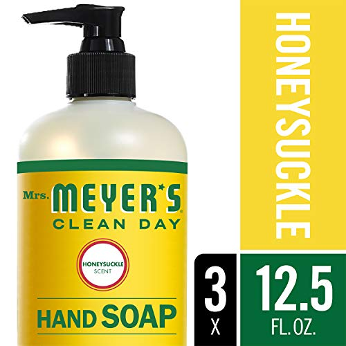 Mrs. Meyer´s Clean Day Hand Soap, Honeysuckle, 12.5 fl oz, 3 ct (Moisturizing Hair Cleanser Natural)