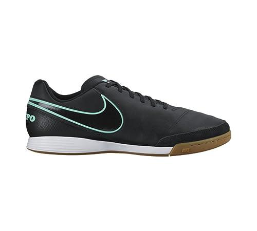 designer fashion 50eaa a7085 Nike Tiempox Genio II Leather IC, Botas de fútbol para Hombre, Negro Black,