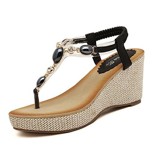Wedge Heel Slingback Sandals - 3