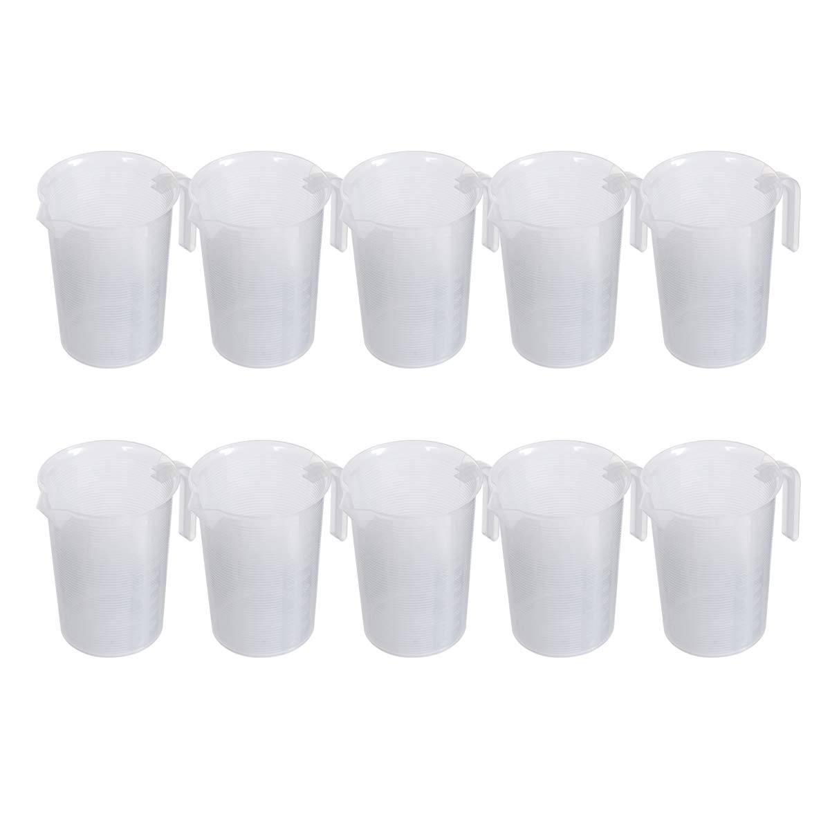 Saim 1000ml Plastic Graduated Pitcher Measuring Cups BPA Free Liquid Measuring Containers Kitchen Utensils Gadgets Measuring Tools with V-Shaped Spout & Measurement for Baker Pastry Cook, 10pcs by Saim