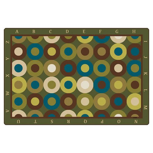 (Carpets for Kids 17724 Calming Circles with Alphabet Kids Rug Size: 4' x 6', Multicolored)