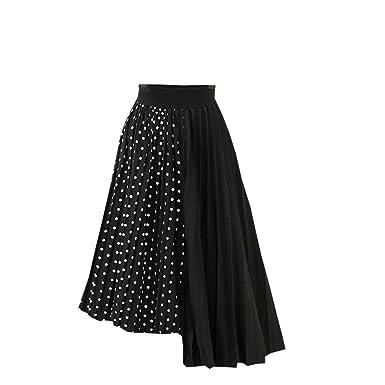 AOGOTO - Falda de Tul para Mujer, Primavera, Verano, elástica ...