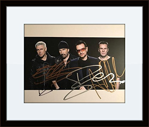 Framed U2 Complete Band Autograph with Certificate of Authenticity