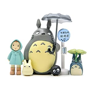 6Pcs My Neighbor Totoro Figures Toys Set, Japanese Anime Miyazaki Spirit Away Figurines Statue Models Dolls for DIY Miniature Garden Micro Landscape Decorations Birthday Cake Toppers