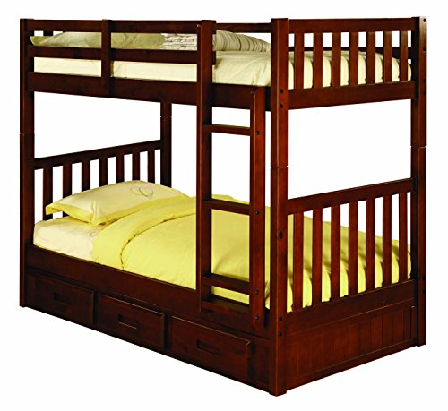 Discovery World Furniture Twin over Twin Bunk Bed with 3 Drawer Storage, - Discovery All Loft One