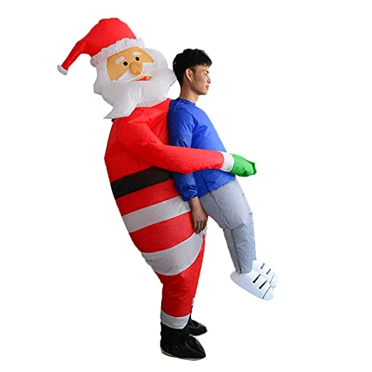 Tubicu - Disfraz de Papá Noel con Texto en inglés Hugs People ...