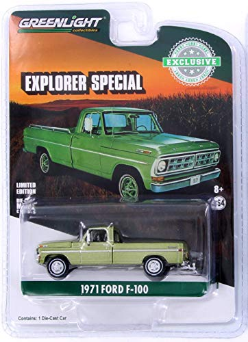 1971 Ford F-100 Explorer, Lime Gold Metallic - Greenlight 29968/48 - 1/64 Scale Diecast Model Toy Car
