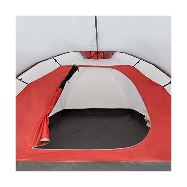 51WLZERBn1L JUSTCAMP Scott Campingzelt mit Vorraum, Iglu-Zelt für 3 od. 4 Personen (doppelwandig), Kuppelzelt