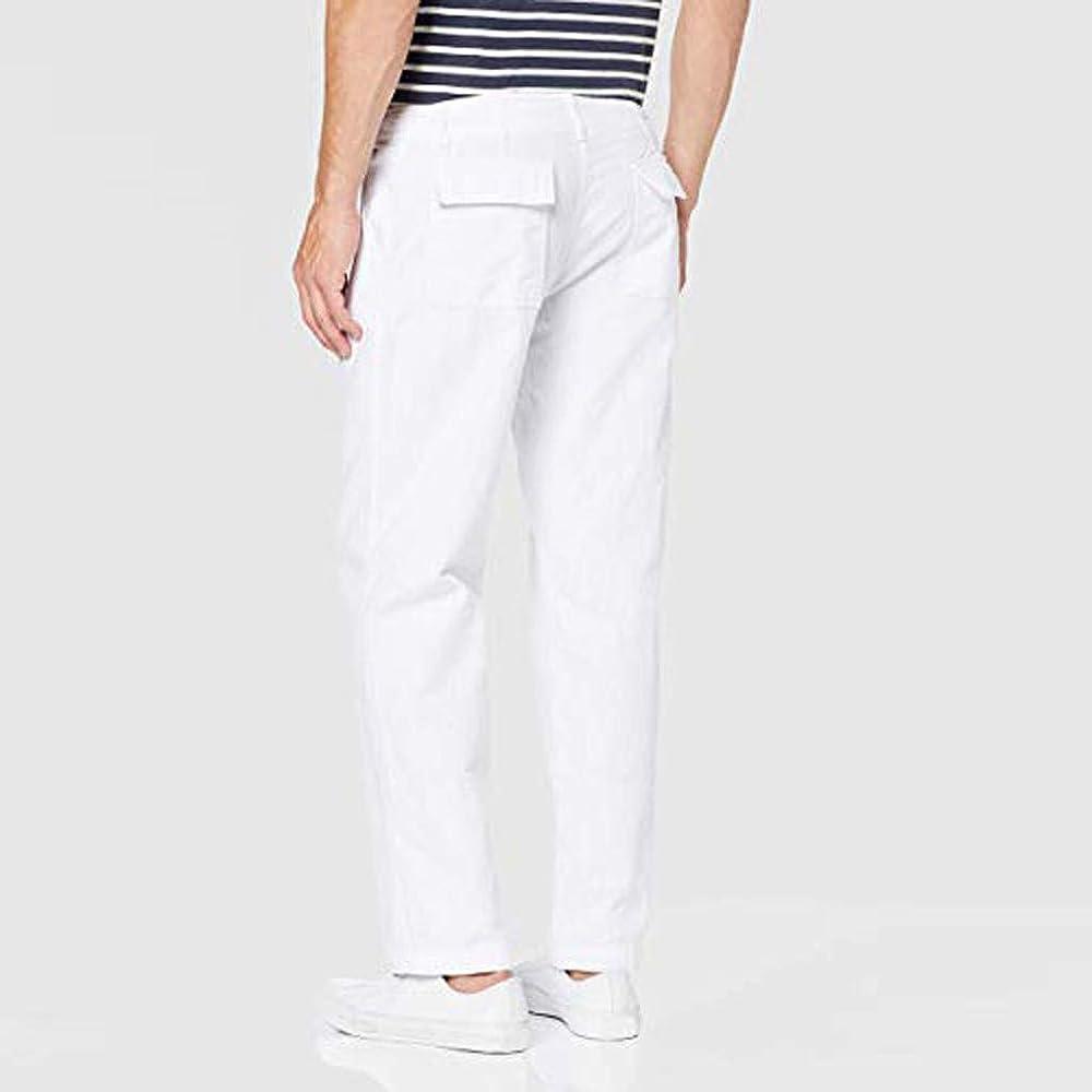 Pantalones Hombre Lino Casual Tallas Grandes Moda Trabajo ...