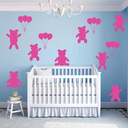 Winnie The Pooh Wedding Reading: Amazon.com: Wall Decal Cartoon Winnie The Pooh Bear Set 12