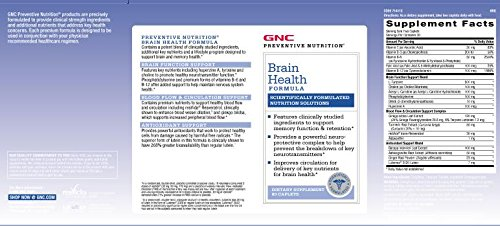 GNC Preventive Nutrition Brain Health Formula with Huperzine A, Choline Tyrosine by GNC (Image #4)