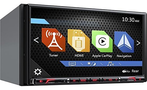 Clarion Corporation of America NX807 2-Din DVD Multi Media Station with Built-in Navigation & 6.95