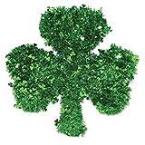 St. Patrick's Day Shamrock Tinsel Wreath 17''