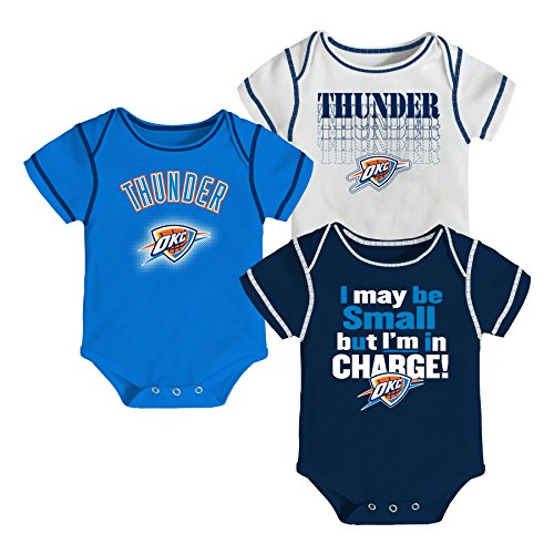 NBA Oklahoma City Thunder In Charge Creeper Set (3-Piece), Newborn 0-3 Months