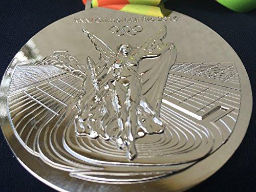 Rio 2016 Silver Olympic Medal Commemorative Souvenir Braz...