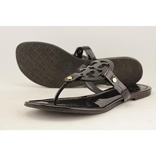 Tory Burch Miller leather Snake PRINT Leather Thong Sandals 9  well loved