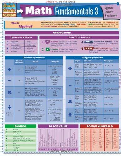 Math Fundamentals 3 (Quickstudy: Academic) pdf epub