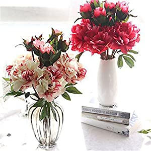 JJH 1 Branch Others Real Touch Peonies Tabletop Flower Artificial Flowers 85