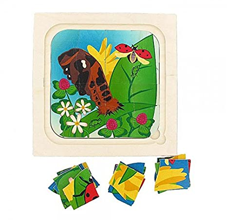 Schichtpuzzle Marienkäfer von HOBEA-Germany Baby Holzspielzeug