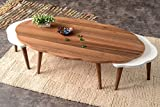 Marble Coffee Tables for Sale Mare Collection Libra Walnut Coffee Table Set - Nesting Table   Sets   Service Stand   Living Room   Mesita Baja