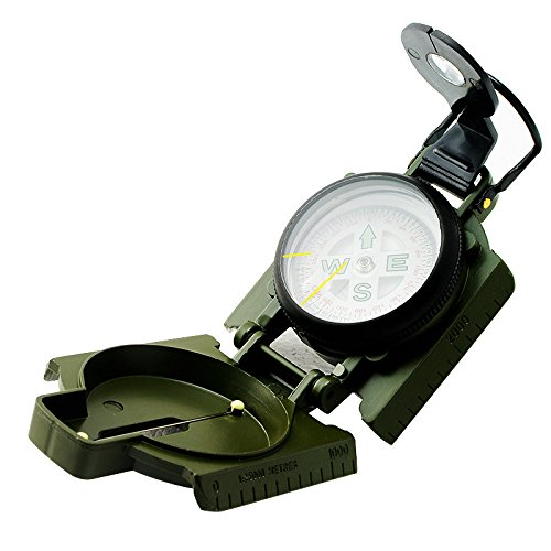 Denshine New Style Military Camping Hiking Army Survival Marching Lensatic Metal Compass