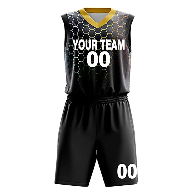 Custom Basketball Jerseys Set for Men Sportswear- Make Team Uniform Print Team Name,Number and Your Name