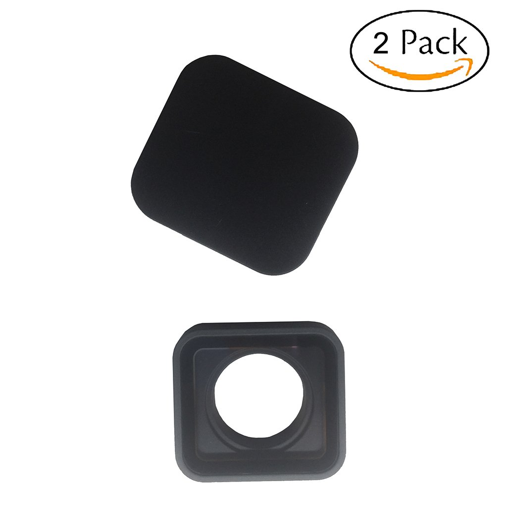 Protective Camera Lens Cover Glass Replacement Part for GoPro Hero 5/6 Black, with 1 Lens Cap by Woohot