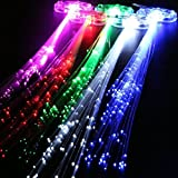 Kohree LED Fiber Hair Light Up Hair Barrettes, Multicolor Flash Barrettes Clip Braid - Party Supplies(15 Set)