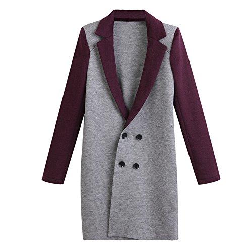 Women COAT Windbreaker Color button sleeve Lapel Coat DYF Bump Picture Long FYM Big XL size EUBqHH