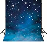 Kate 6.5ft(W) x10ft(H) Fantasy Stars In Blue Sky Photography Backdrop Studio Props No Wrinkles for Children Birthday and Upgrade