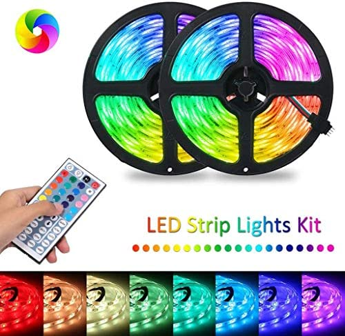 Mandii RGB LED Strip Flexible Light 44-Key Infrared Remote Control LED Bulbs
