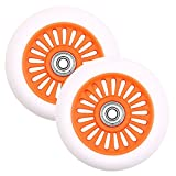 VOKUL 2pcs 100mm Pro Scooter Wheels Replacement Complete S1 S2 Scooter,Razor Scooter and All Freestyle Pro Scooters with 100mm Wheels