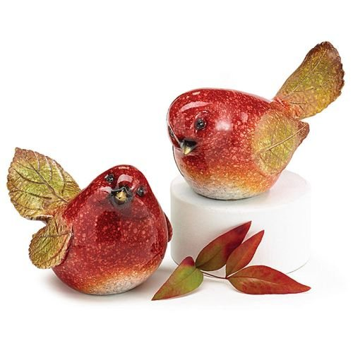 Resin Painted (Sculpted Hand Painted Resin Red Bird Figurines)