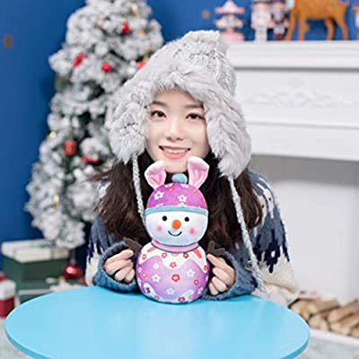 STOBOK Christmas Plush Snowman Doll Stuffed Toy Figurine Gift Desktop Ornament Pendantfor Kid Christmas Tree Xmas Festive Decorations Hanging Season Theme - Spring: Office Products