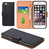 iPhone 6 Case, iPhone 6S Case, Aicoco Flip Cover Leather, Phone Wallet Case for Apple iPhone 6 / 6S (4.7inch) - Black