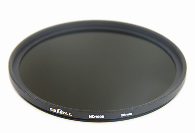 GREEN L 58mm Slim Neutral Density ND1000 Lens Filter Optical Glass 10 Stop  ND1000 58mm