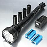 15x XM-L T6 18000LM Super Bright LED Flashlight+18650+Charger