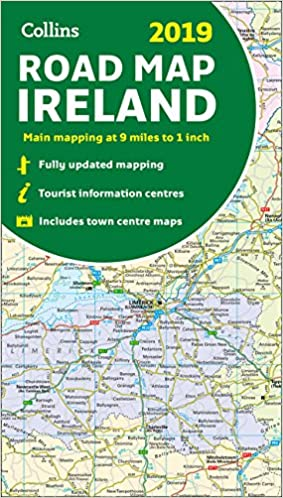 2019 Collins Road Map Ireland Collins Maps 9780008272722 Amazon
