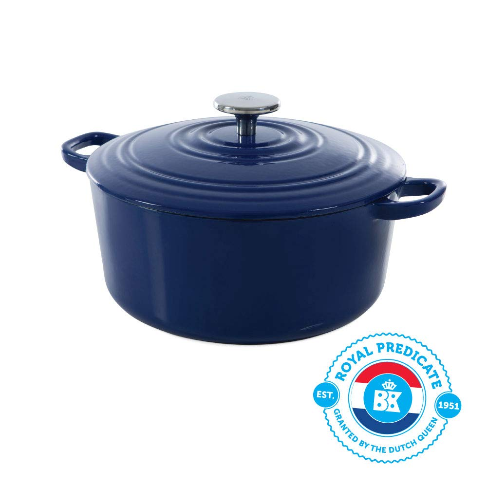 BK H6074.528 Bourgogne cast iron pan, 7QT, Royal Blue