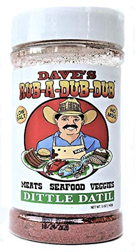 Dave's Rub A Dub Dub Dittle Datil Pepper Seasoning Spice Dry Rub for Meats Seafood Veggies 5 OZ