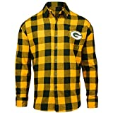 FOCO Green Bay Packers Large Check Flannel Shirt - Mens Medium