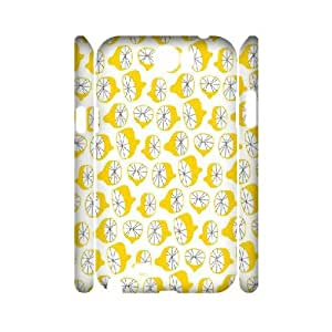 3D {Lemon Series} Samsung Galaxy Note 2 Cases Many Lemon, Case Jumphigh - White