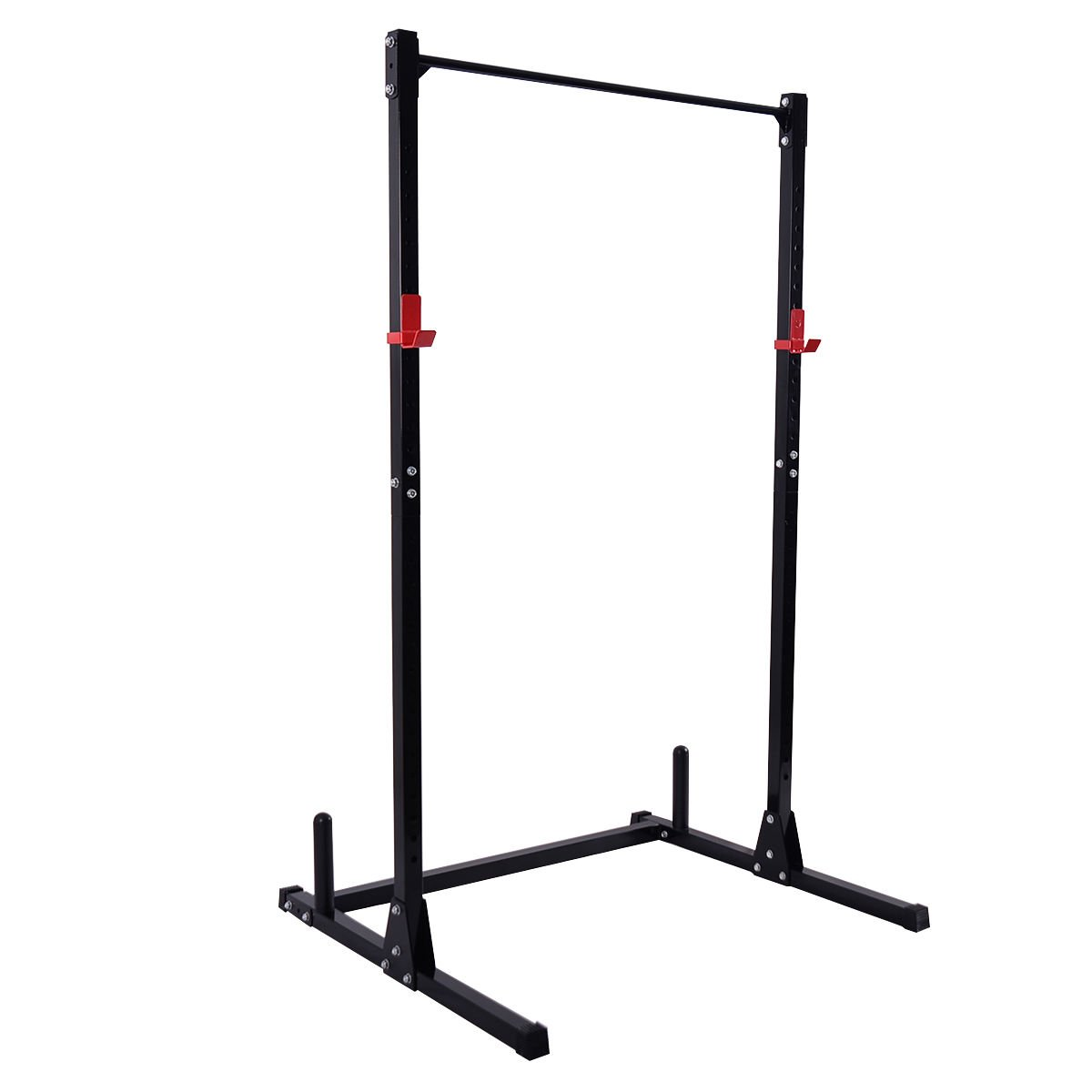 Goplus Adjustable Power Rack Exercise Stand Fitness Squat Bench Curl Pull Up Cage Weight Stand for Strength Deadlift Power Lifting Weightlifting in Home, Office and Gym