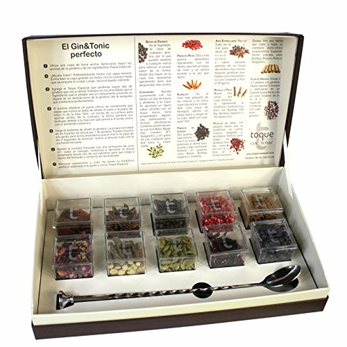Gin and Tonic 10 Spices Kit with Free Bar Spoon Gift Box Gin Flavoring Spices by Dona Maria Gourmet (Image #1)