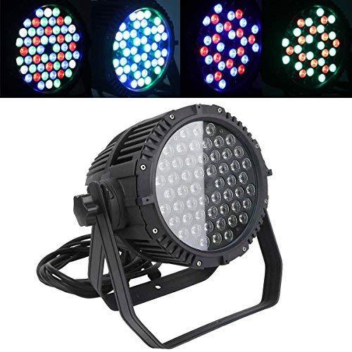 Tengchang 54X3W IP65 RGBW DMX LED Par 64 LED Stage Light Double Yokes DJ Party - Dmx Lighting Yoke Moving