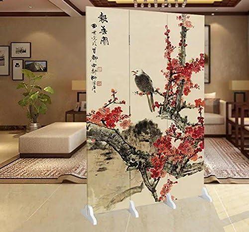 Fine Asianliving-Divisor de abitación-Mampara de ducha-Puertas corredizas-separadores de espacios-Panelese separadores-Tabique decorativo para habitaciones pantalla plegable de 3 paneles 123: Amazon.es: Hogar