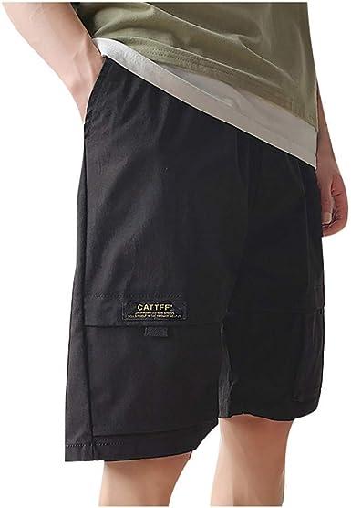 OPAKY Hombre Cargo Shorts Algodón Pantalones Cortos Bolsillos ...