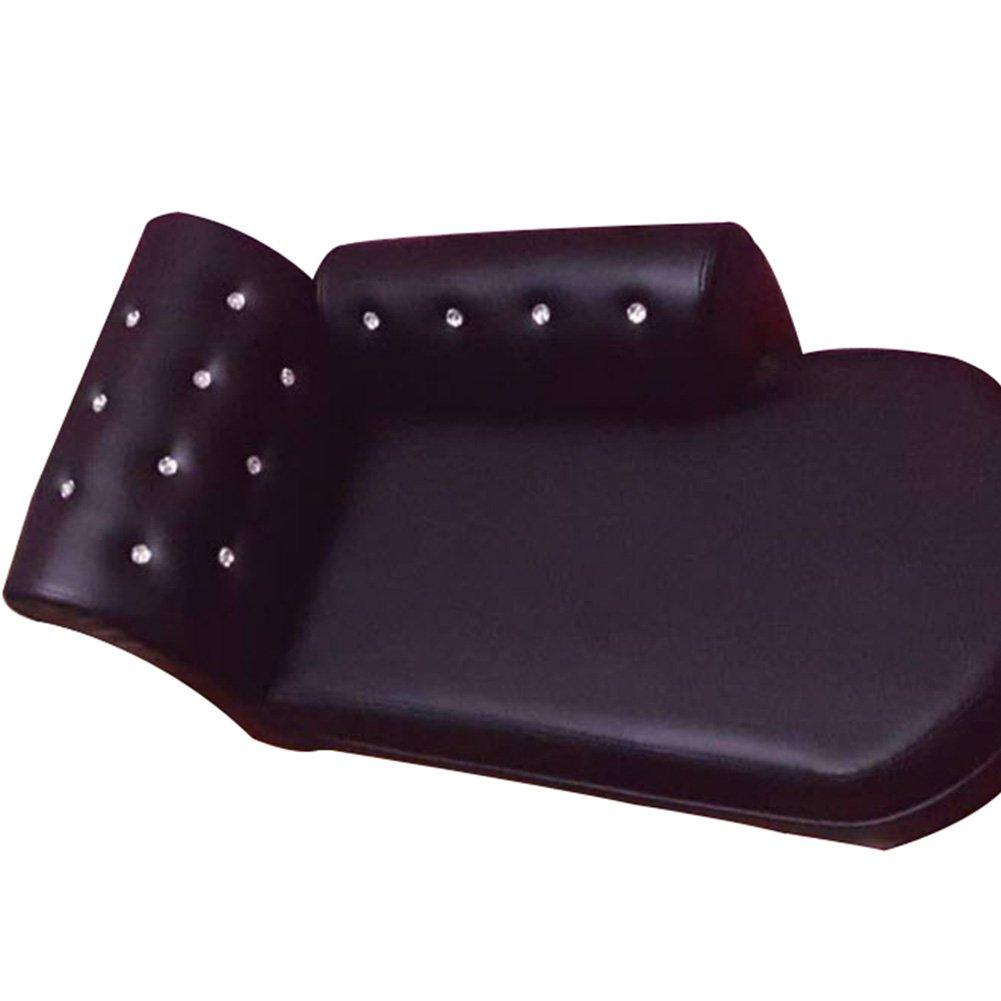 Creation Core Luxury PU Leather Rhinestone Puppy Dog Sofa Bed(Black)