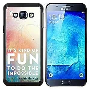 - It Kind of Fun To do the impossible - - Cubierta del caso de impacto con el patr??n Art Designs FOR Samsung Galaxy A8 A8000 Queen Pattern