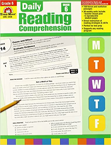 Amazon daily reading comprehension grade 6 0023472034564 amazon daily reading comprehension grade 6 0023472034564 evan moor books fandeluxe Gallery